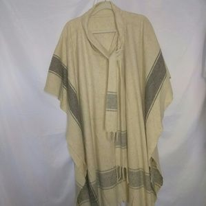 Vintage wool poncho one size fits most